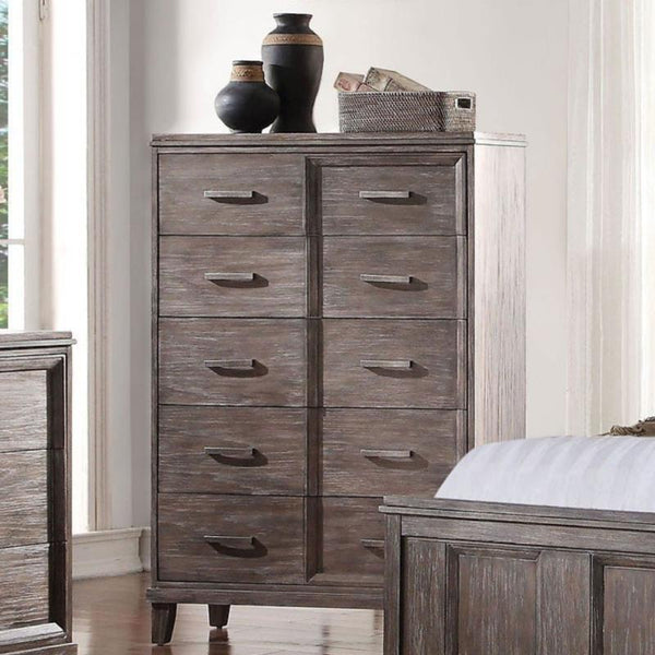 Acme Bayonne 23896 Burnt Oak Chest - Comfy Kids Bedroom