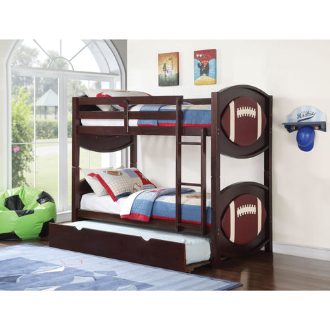 Acme All Star Football 11956 Twin over Twin Bunk Bed - comfykidsbedroom.com