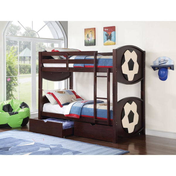 Acme All Star Soccer 11954 Twin over Twin Bunk Bed - comfykidsbedroom.com