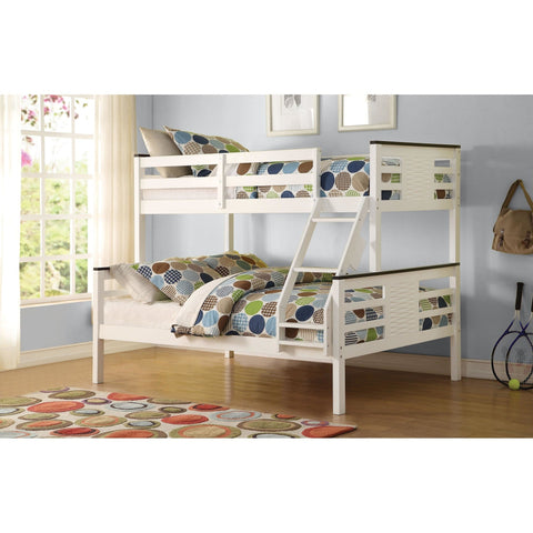 Acme Florrie White 37750 Twin over Full Bunk Bed - comfykidsbedroom.com