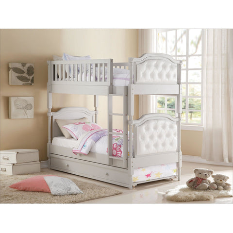 Acme Pearlie Gray 37690 Twin over Twin Bunk Bed with Trundle - comfykidsbedroom.com