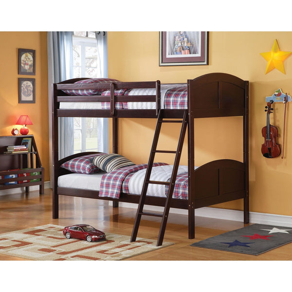 Acme Toshi 37010 Espresso Twin over Twin Bunk Bed - comfykidsbedroom.com