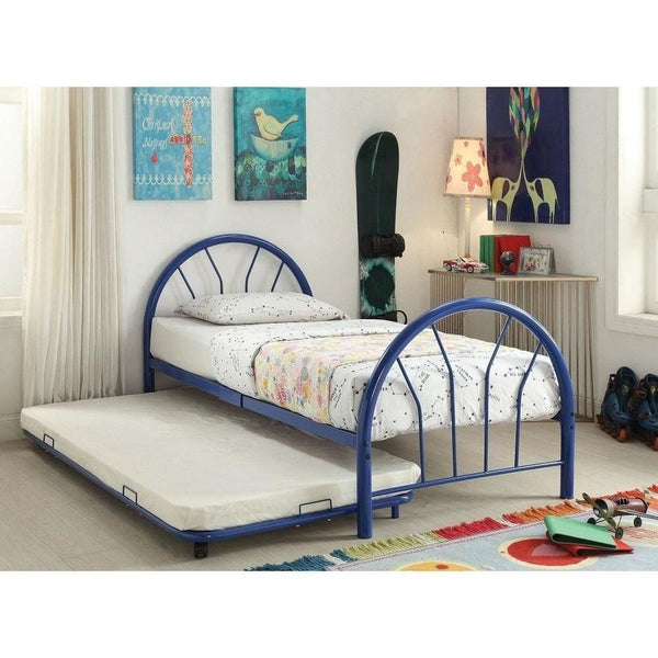 Acme Silhouette Metal Twin 30450T Trundle Bed - comfykidsbedroom.com