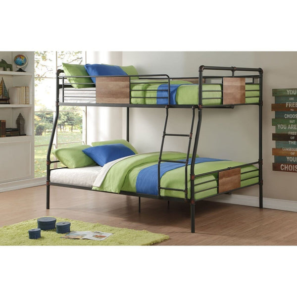 Acme Brantley 37725 Black Full over Queen Bunk Bed - comfykidsbedroom.com