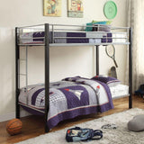 Acme Mirella Silver Metal 37240 Twin over Twin Bunk Bed - comfykidsbedroom.com