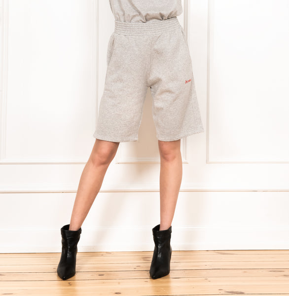 Ivylee Copenhagen Emma Shorts Pants Grey Melange w. Red Logo