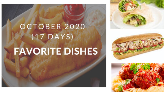 October Meal Plan - 17 days