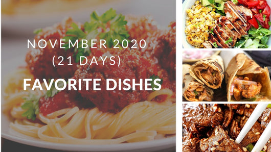 November Meal Plan - 21 days
