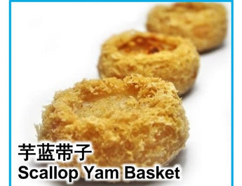 Scallop in Yam Basket