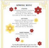Spring Menu - Full Buffet Set Up