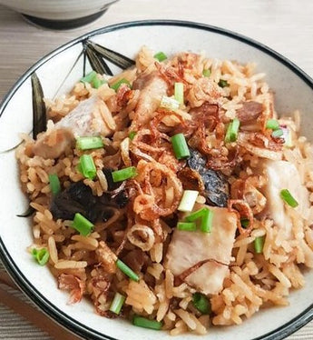 Yam, Dried Shrimp & Cabbage Rice