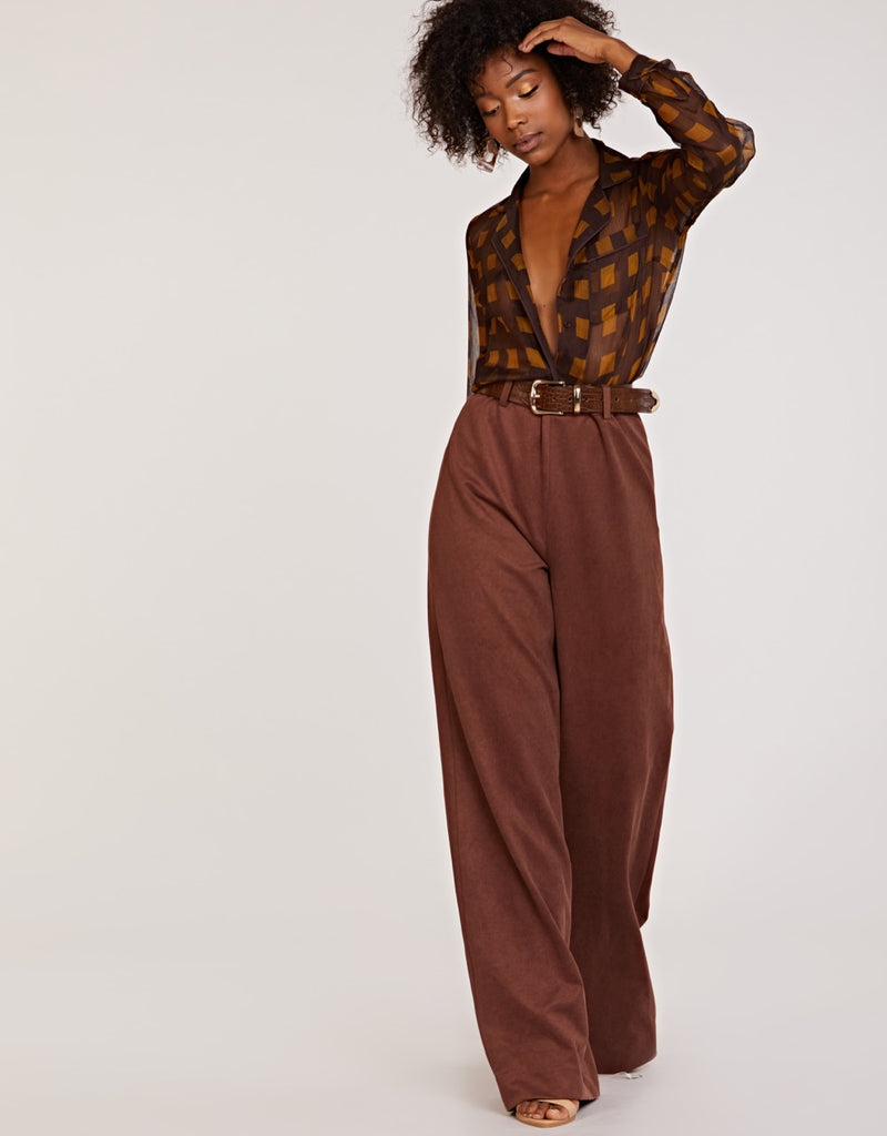 Cinnamon Wide Leg Bottoms