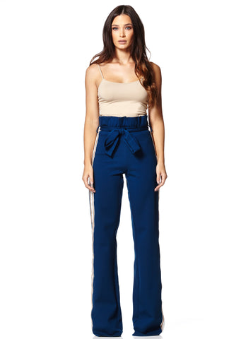 Limited Edition Deep Blue Waist Tie Pants