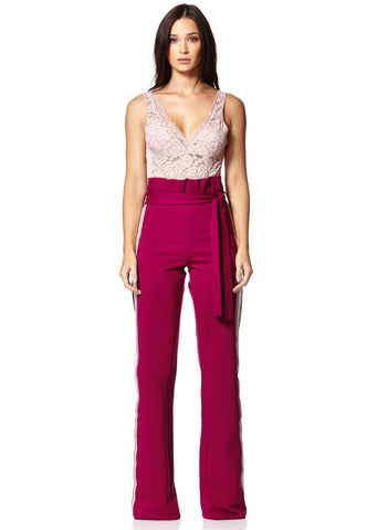 Limited Edition Magenta Waist Tie Pants