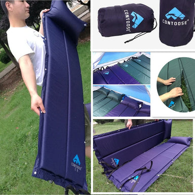 187cmx58cmx2.5cm Outdoor Camping Lightweight Automatic Inflatable Air Mattress Sleeping Pad