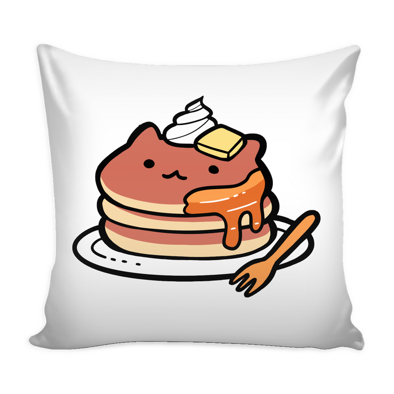 Cat Pancakes Pillow Cover - MyUnistyles