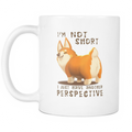 I'm not short (corgi) Mug