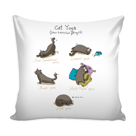 Funny Yoga Cat Pillow Cover - MyUnistyles
