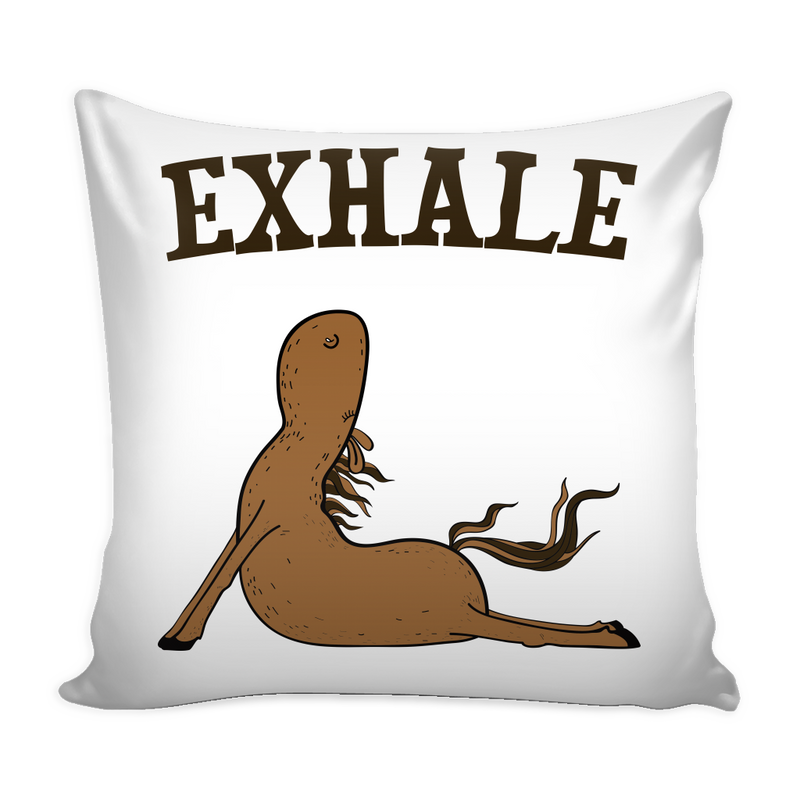 Exhale Yoga Horse Pillow Cover - MyUnistyles