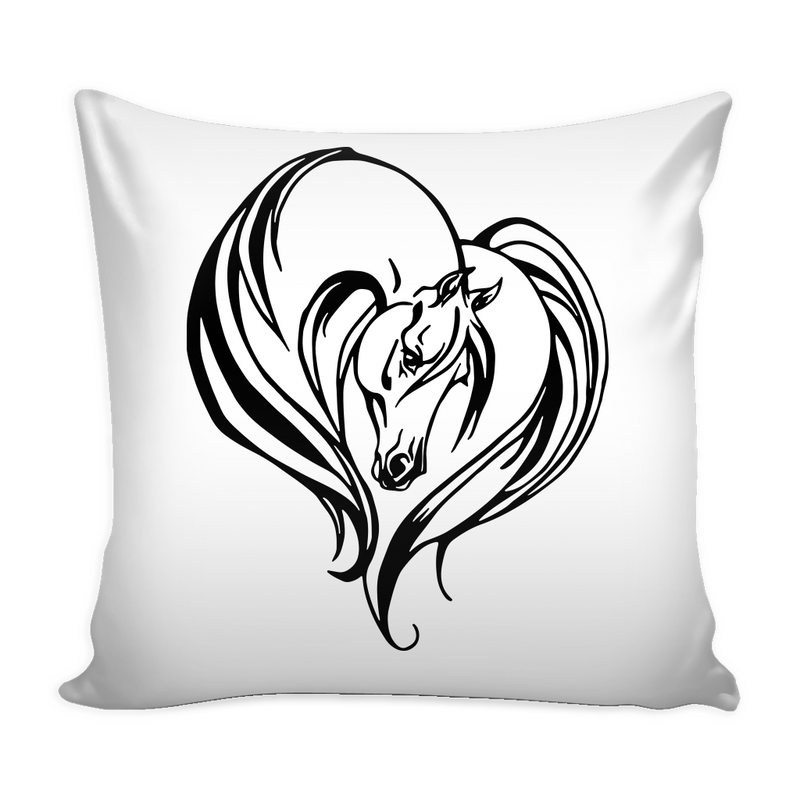 Love Horses Pillow Cover - MyUnistyles