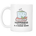 Happiness is a cup of Tea and a good book Mug - MyUnistyles