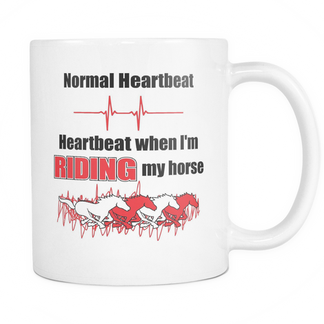 Horse Riding Heartbeat Mug - MyUnistyles