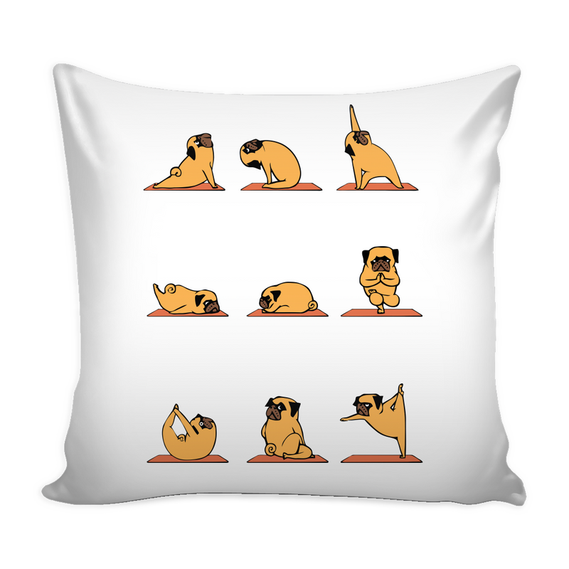 Yoga Pug Pillow Cover - MyUnistyles
