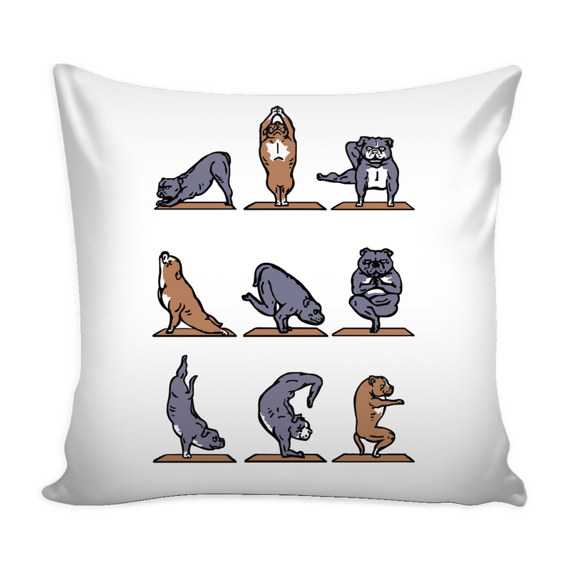 Yoga Pitbull Pillow Cover - MyUnistyles