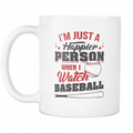 I'm just a happier person when i watch Baseball Mug