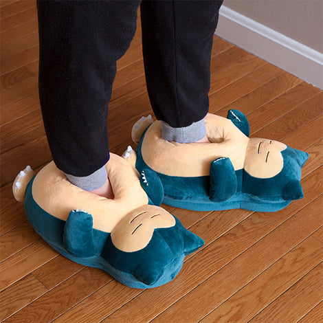 Cute Monster Pokemon Snorlax Plush Slippers