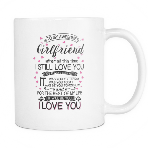 I love my girlfriend forever Mug - MyUnistyles