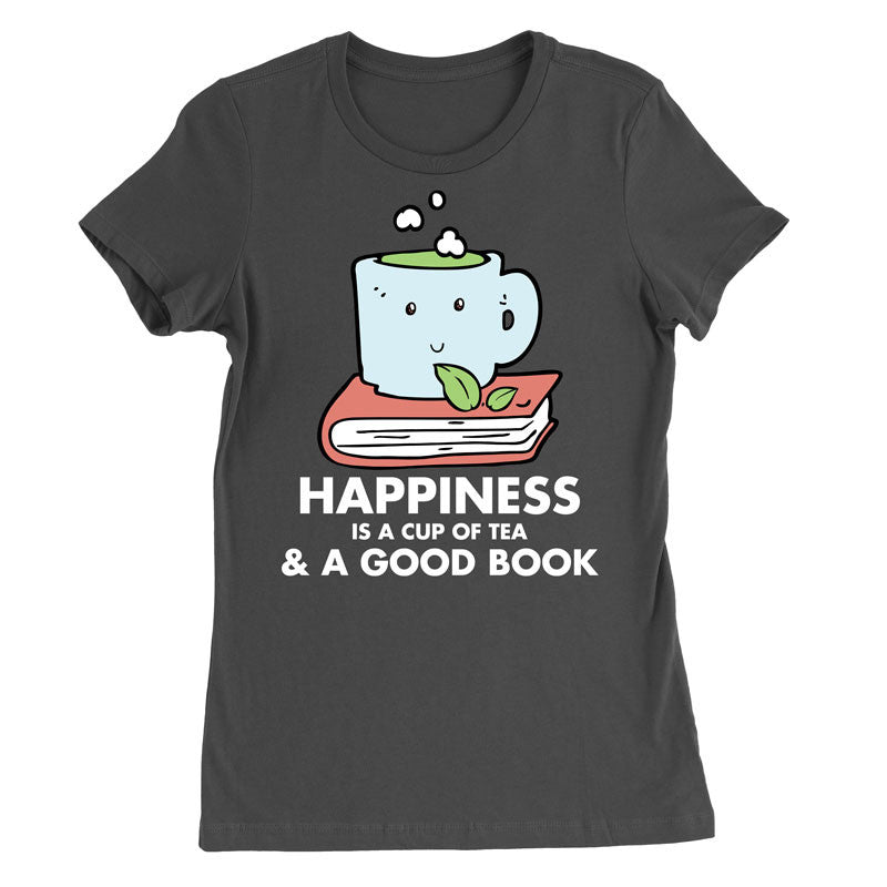Happiness is a cup of Tea and a good book T-Shirt - MyUnistyles