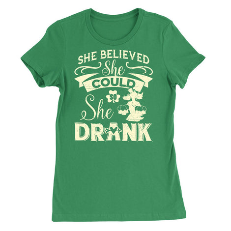 She believed she could so she drank T-Shirt - MyUnistyles