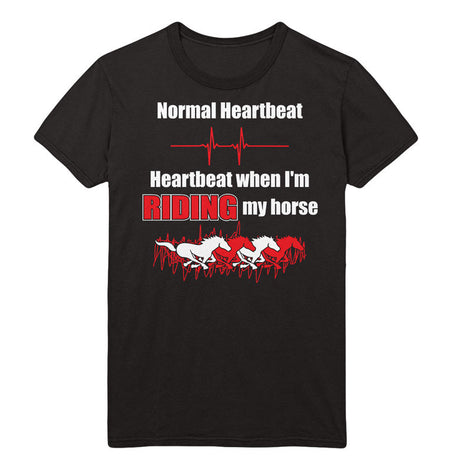 Horse Riding Heartbeat T-Shirt - MyUnistyles