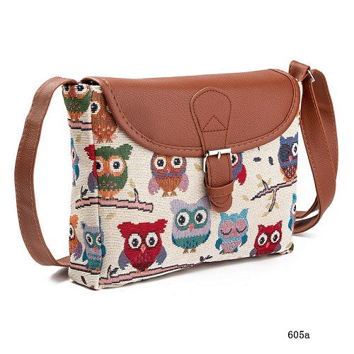 Summer Women Cartoon Owl Printed Crossbody Shoulder Bags - MyUnistyles