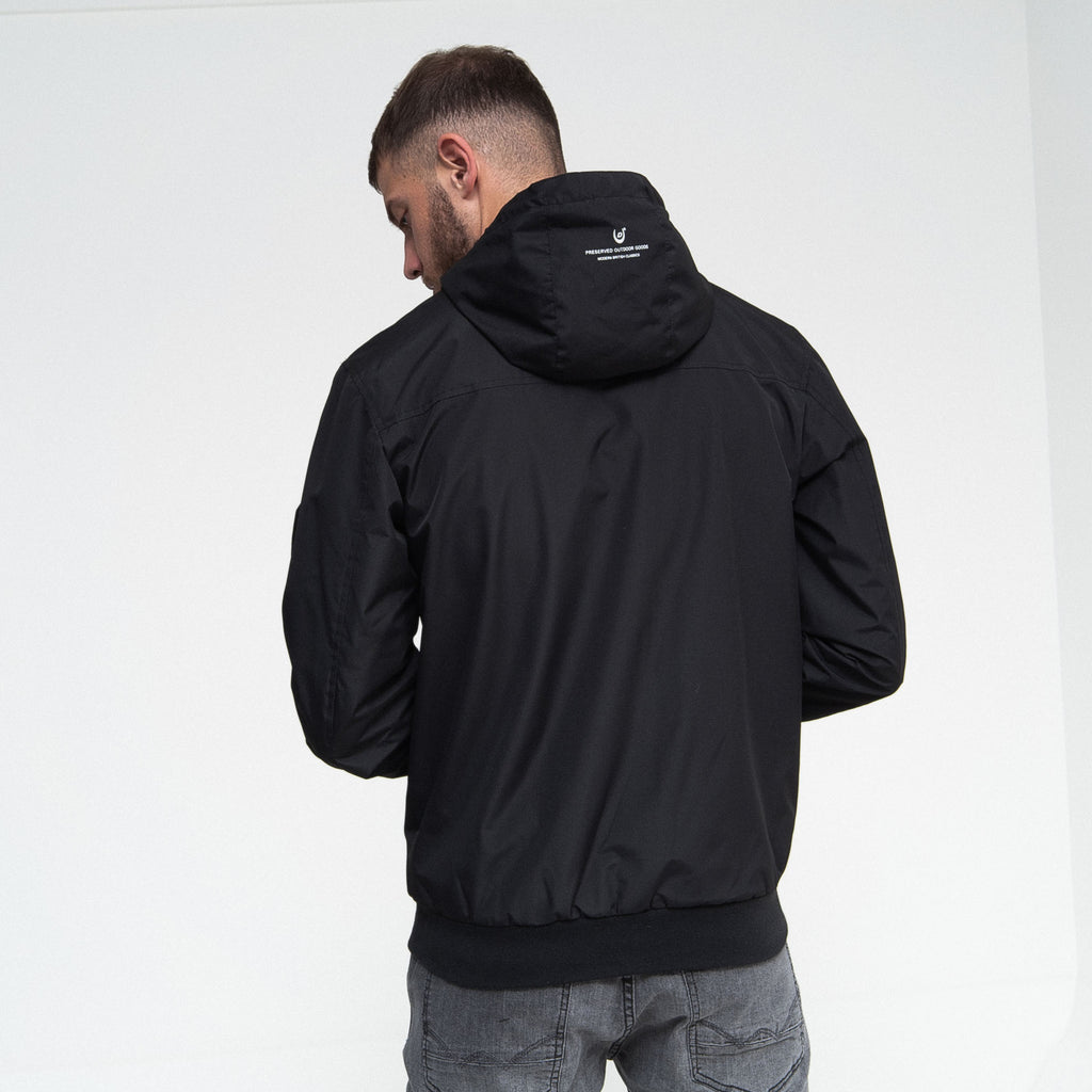 Breton Hooded Jacket Jet Black