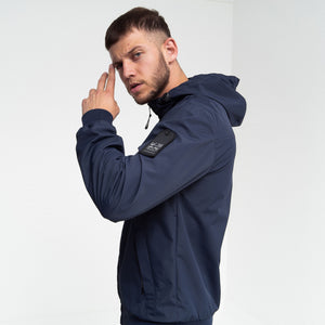 Breton Hooded Jacket Navy Blazer