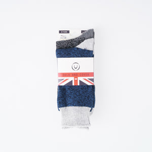 Edson Boot Socks - Navy/Charcoal 2pk