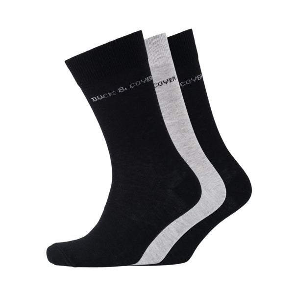Hartman Socks - Black and Grey 3pk