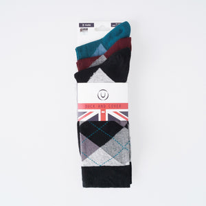 Reeves Socks - Argyle Assorted 3pk