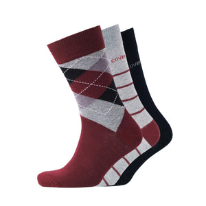 Styer Socks - Black Assorted 3pk