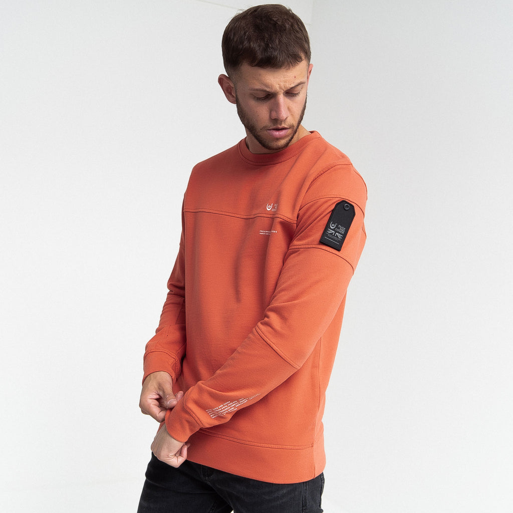 Hinkley Crew Sweatshirt Burnt Sienna