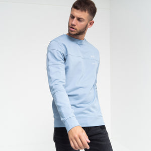 Hinkley Crew Sweatshirt Faded Denim