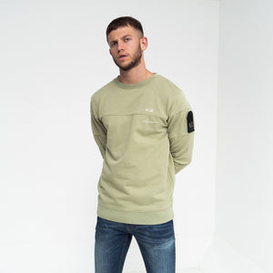 Hinkley Crew Sweatshirt Oil Green