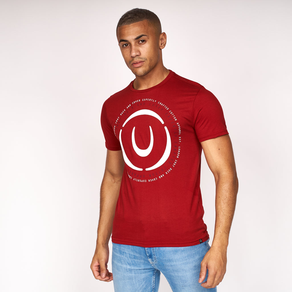 Denzel T-Shirt Red Dahlia