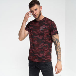 Mobley T-Shirt Deep Red Camo