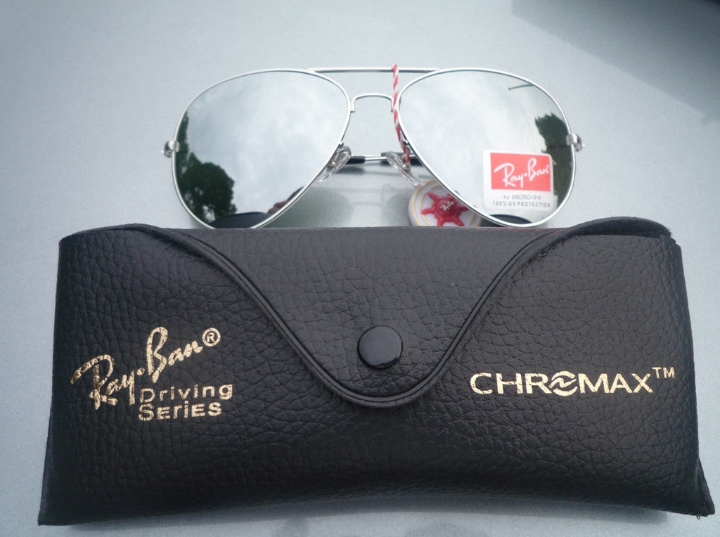 d60b340bd5 ... Ray Ban Aviator Sunglasses RB3025 Silver Frame Silver Mirror ...
