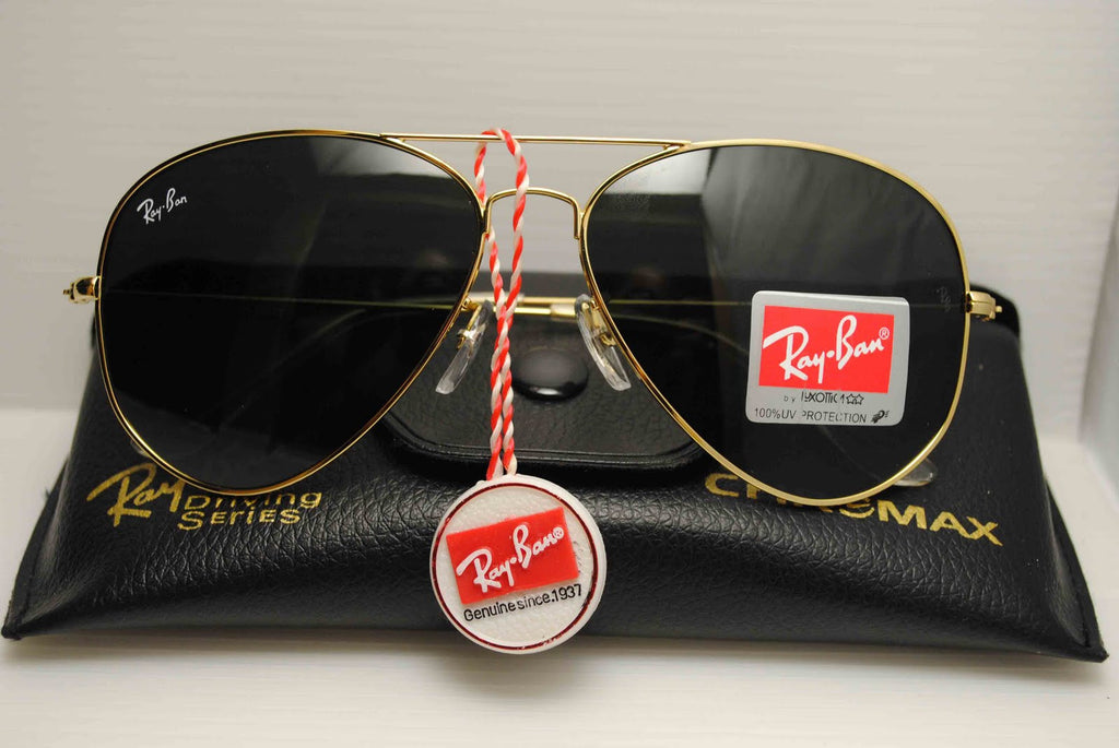 f7d26452114 Ray Ban Aviator Sunglasses RB3025 Gold Frame Black Lens – SunGlassStore