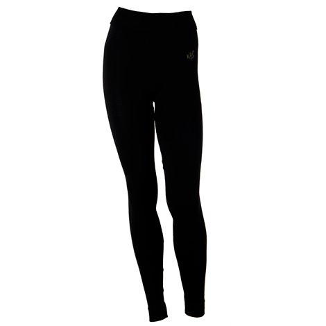 Bamboo Seamless Yoga Legging Black soft and highwaisted. If low waist is preferred - it is possible to roll the waist down.