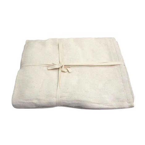 Yoga-Mad blankets being 100% hand-woven cotton are soft and fold tightly offering good support whilst holding their shape - the key to a good yoga blanket